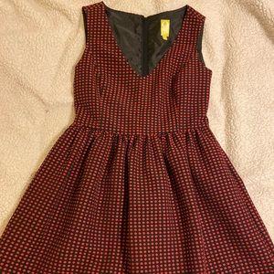 Black and red polka dot dress by Q-Mack